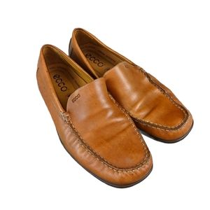 Ecco Camel Leather Loafer, 42